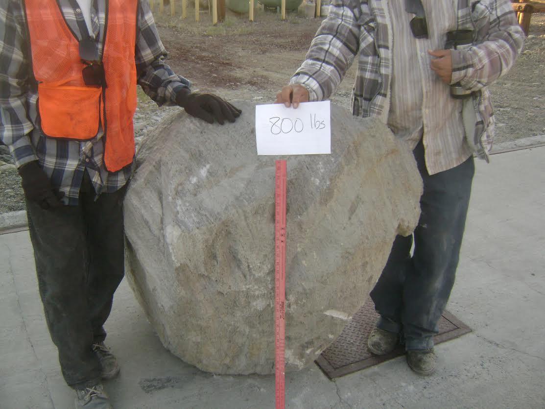 800 lb Grey Boulder