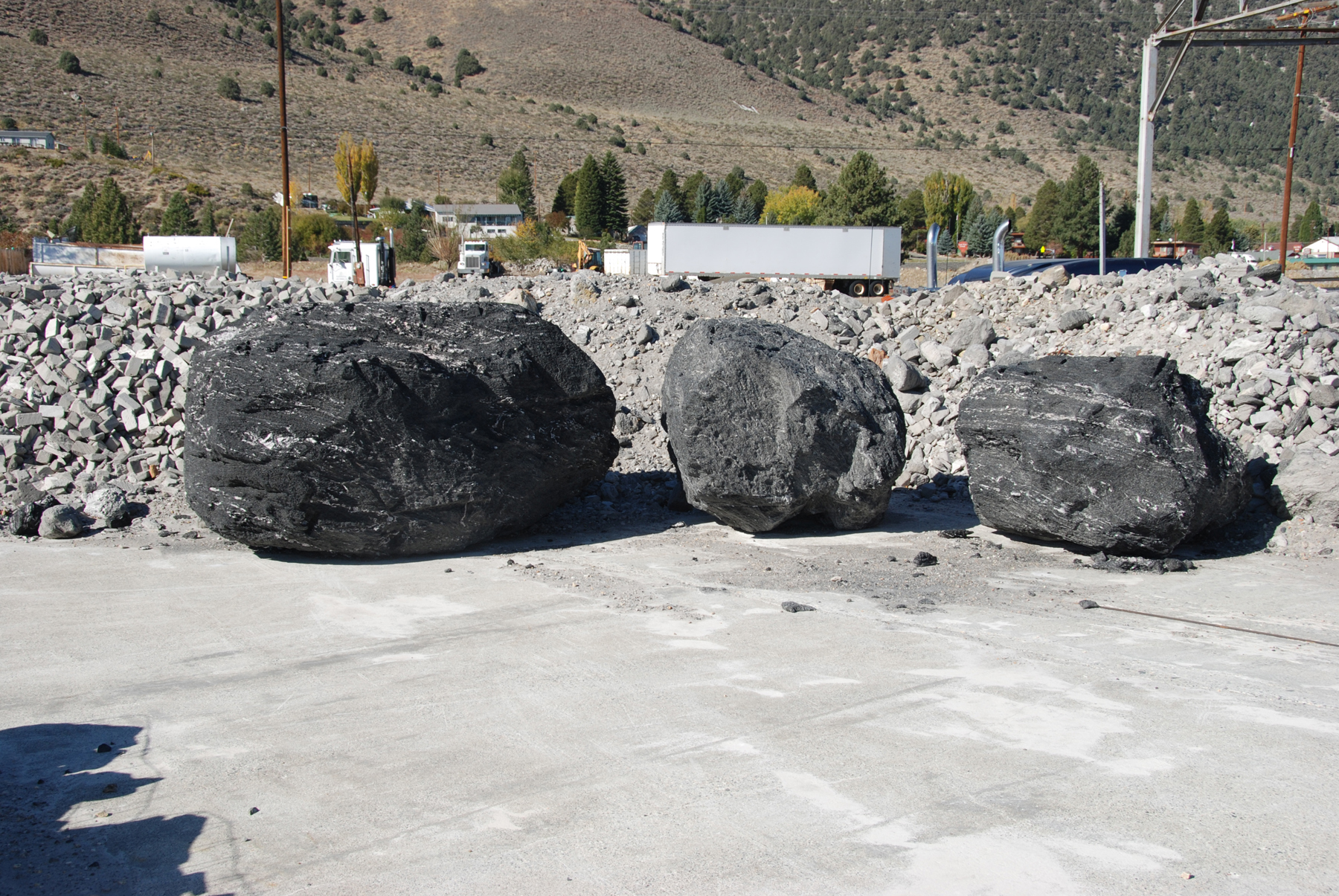 Large Charcoal Boulders