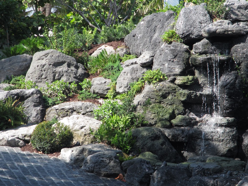 Featherock grotto by waterfalls fountains gardens for Garden grotto designs