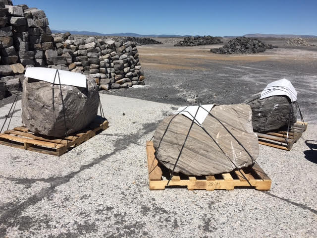 Handpicked boulders ready for shipment